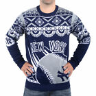 Klew New York Yankees Navy Blue Thematic Ugly Sweater - MLB