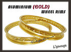 [LG3933] YAMAHA IT175 D/E/F 1977 1978 1979 ALUMINIUM(GOLD ) FRONT+REAR WHEEL RIM