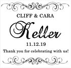 Black and White Personalized Bridal Shower and Wedding Stickers