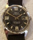Vintage ORIS 17 Jewel Swiss Mechanical Watch w/ Black and Lime Dial! Lumed!