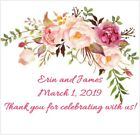 Floral Personalized Bridal Shower and Wedding Stickers