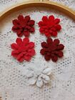 Flower Felt Die Cuts Berry Patch 5 flowers 25 pieces Wool Blend Felt