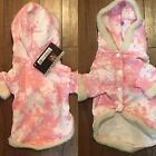 Dog Hoodie Pink  White Soft Small Dog Clothes Doggie Duds Adorable
