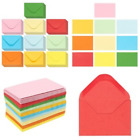 100 Pcs BUSINESS Card ENVELOPES 4x27 Kraft Gift Card Clasp Flap Assorted Colors