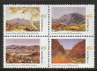 Australia Scott 2064 2067a MNH 2002 issue Paintings block of 4