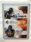 2008 SP Sign Of The Times Dual Auto Gale Sayers Matt Forte Rookie # 50