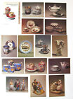 1984 LOT 20 SET Russian Antique PORCELAIN Glass Art Figurines PostCard TEA Pot