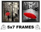 Paris Pictures France Red Umbrella 5x7 France Wall Hangings Home Decor
