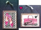 Paris Pictures France Eiffel Tower Pink Shoes Purse Plaques Wall Hangings