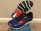 Mens Size 12 Brooks Transcend 4 Running Shoes New In Box Blue Black HghRisk Red