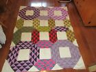 Vintage Amish Made Quilt Block Top