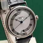 BREGUET 5197 CLASSIQUE SILVER DIAL18K SOLID WHITE GOLD AUTOMATIC MEN'S WATCH