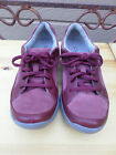 Clarks Privo Maroon Nubuck Leather Casual Shoes Womens 7 N