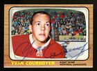 1966 1966-67 TOPPS USA TEST #13 YVAN COURNOYER AUTOGRAPHED HOCKEY CARD