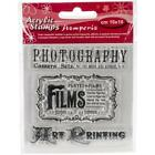 Stamperia Cling Mount Clear Stamps PhotographyJournals Mixed media Cards Paper