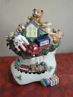 Fitz and Floyd TOYLAND Christmas Cookie Jar - New in Box -  - Retired