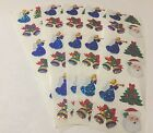 Sandylion Santa BellTree Angle and Christmas Stickers lot of 5 SHEETS 2 X 6