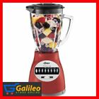 Oster 14 Speed Blender Professional Food System Chop And Grind Red Glass Jar