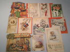 Vintage Lot 12 Christmas Cards Used Tuck Post Card Old Nativity Stand Up