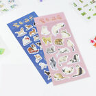 2 Pcs lot Cute Cats and Dogs DIY Animal Fashion Creative Decorative Stickers