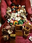 Lot of 35 Boyds Bears Various Sizes -styles, 9 boyds baskets , 7 stand LOOK PLS.