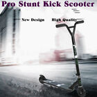 Aluminum Pro Stunt Dirt Kick Scooter Off road Tires All Terrain Mountain Black