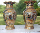 Large Royal Satsuma Hand Painted 14 Vases Set