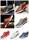 British Men Casual Genuine Leather Shoes Lace up Sneakers Oxford Breathable New