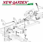 Lift Exploded View Mower SD108 XDL170 Castelgarden 2002 13