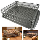 3 Tier Drying Rack Baking Pan Nonstick Grid Stand 700 Square Inches Drying Space