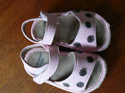 Baby infant girls pink brown dot puddle jumper sandals shoes size 2 used