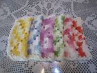 6 CROCHETED 100 COTTON DISH RAGS CLOTHS ASSORTED SHADEDONE 8 BY 8