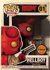 FUNKO POP HELLBOY #01 W HORNS CHASE VINYL RON PEARLMAN FIGURE MIB DARK HORSE