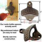 100 Quality Rustic OPEN HERE Beer Bottle Opener Cast Iron Wall Mounted Bar Cave
