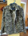 CARBON Camo Army Military Hunting Paintball Shirt Button up Jacket MEDIUM XLGE