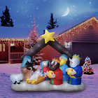 Christmas Xmas Inflatable Nativity Scene Family Lighted Blow Up Yard Giant 7FT