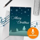 120s Merry Christmas Card Unique Christmas Greeting Card Snow Recordable 00010