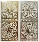 Embossed CHINESE ZODIAC CIRCLES Peel Off Stickers New Year Animals Gold Silver