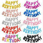 17 Inch HAPPY BIRTHDAY Letters 13 Pcs Foil Balloons Party Decoration 10 Colors