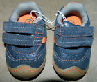 Baby Infant Boys Target Circo Blue Orange Sox Tab Velcro Size 2 Casual Shoes NEW