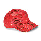 RED Sequined Glamour Cap NEW Velcro adjustable WASHABLE Baseball Hat REG 25
