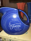 Fiesta LARGE DISC PITCHER Retired Item  First quality SAPPHIRE 60th. ANNIVERSARY