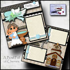Baptism boy 2 premade scrapbook pages paper printed layout 4 album by cherry