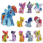 Lot of 12pcs My Little Pony Cake Toppers Action Figures Kids Girls Toy Gift Doll