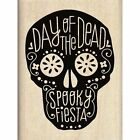 Inkadinkado 438207 Mounted Rubber Stamp Day of the Dead Spooky Fiesta Skull NEW