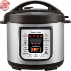 Programmable Electric Instant Pressure Pot Multi Cooker 6Qt 7 in1 Faster Cook