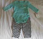 NWT CARTERS Baby Girl 3 Months long sleeve scotty dog outfit