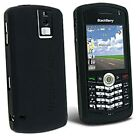 BLACK SILICONE CASE SKIN COVER for Blackberry Pearl 8100 8120 8130