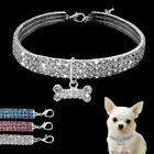 Bling Rhinestone Dog Necklace Collar Diamante  Pendant for Pet Puppy Chihuahua