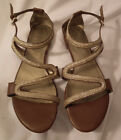 Gold Brown Sandals by GUESS Very Unique Design 65m Gently Worn Condition